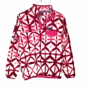 Patagonia Synchilla Snap T Fleece Pullover Tie Dye
